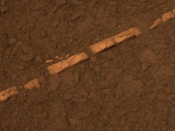 Марсианская высококонцентрированная «вена» из гипса