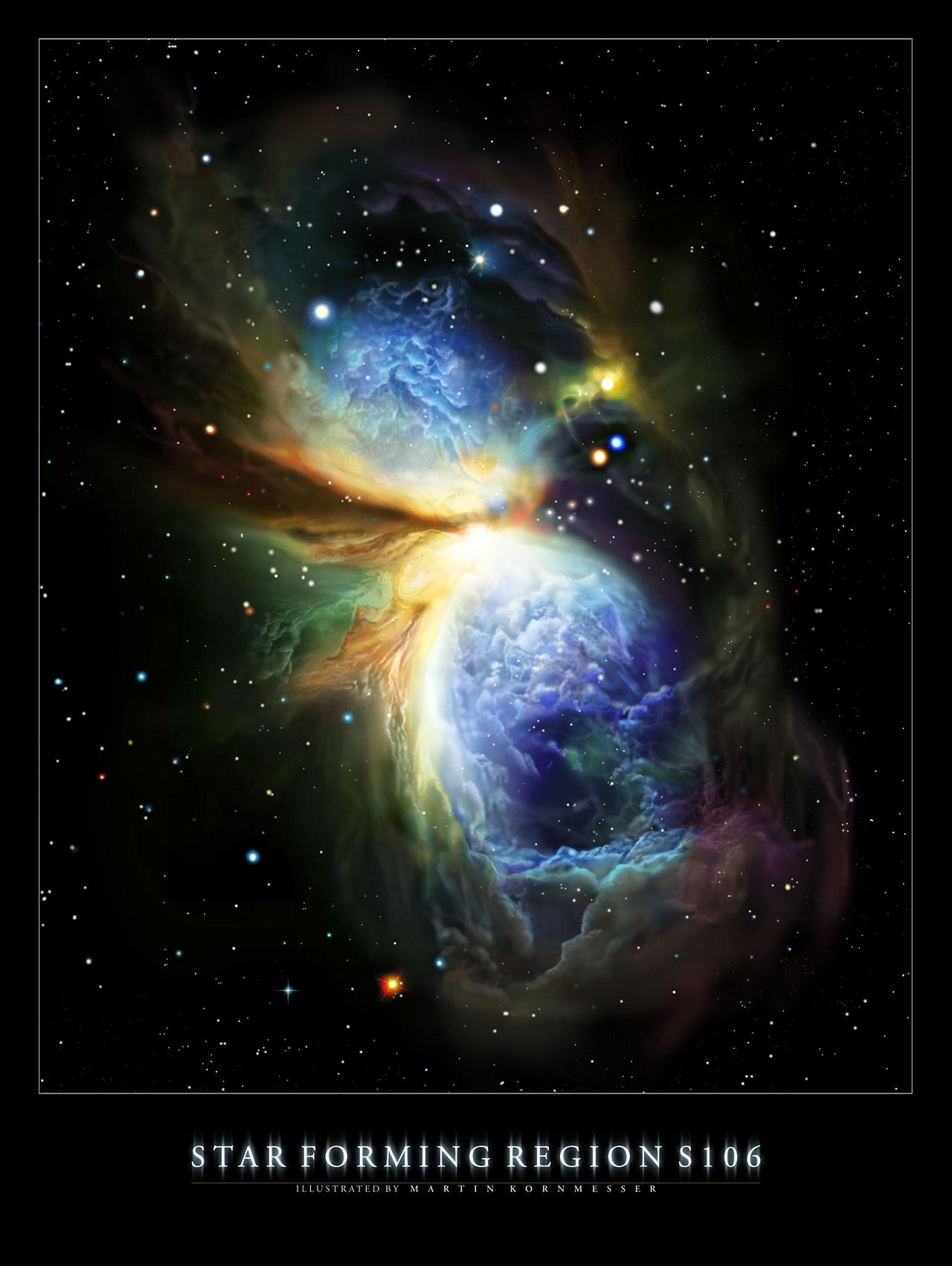 Бунт молодой звезды S106 IR
