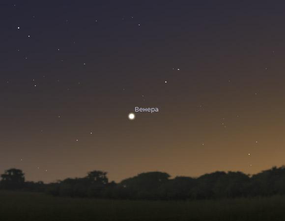 Венера вечером 25 декабря 2011 года