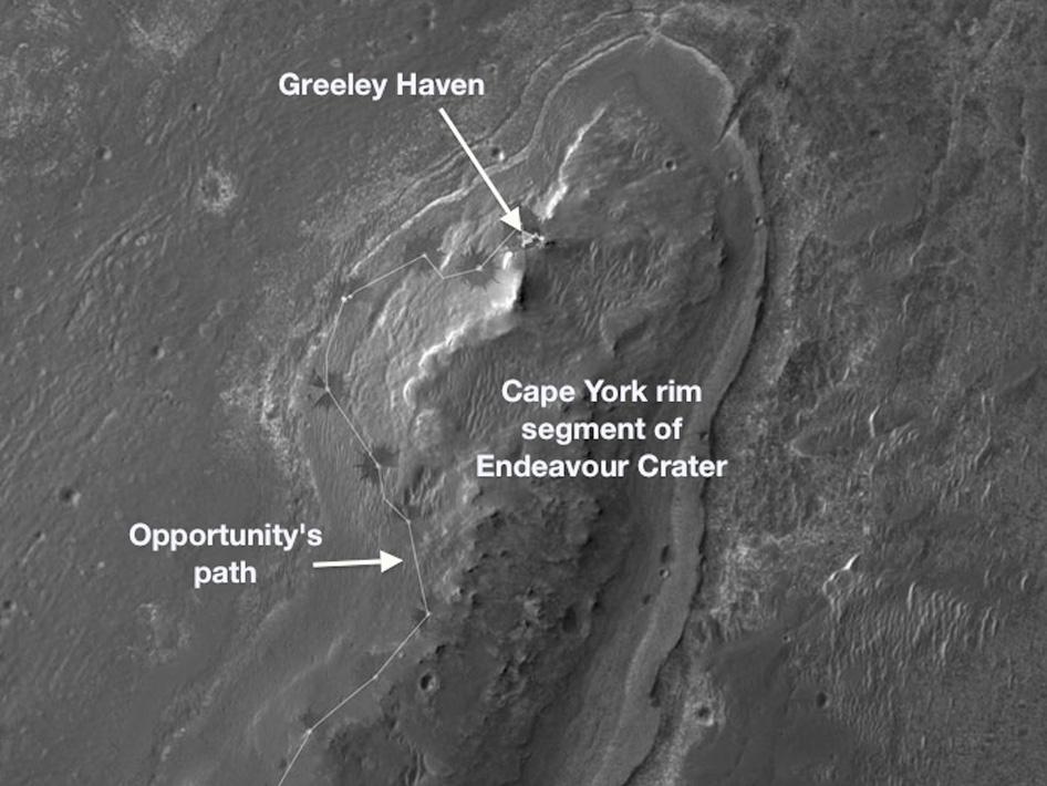 Марсоход «Оппортьюнити» готовится к зимовке на Марсе