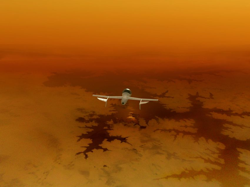 Беспилотный самолет на спутнике Сатурна?