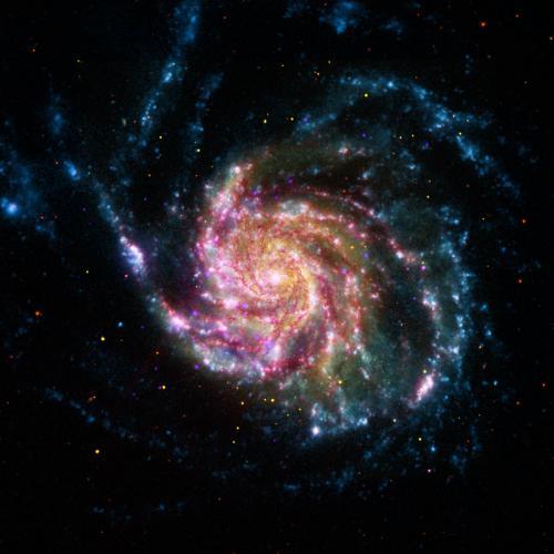 Многоцветная Галактика Вертушка