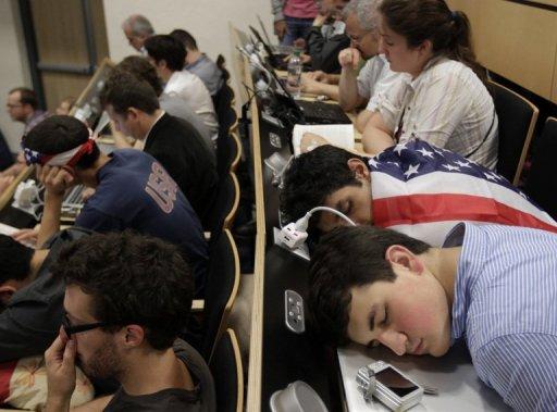 Участники отдыхают перед началом семинара в CERN