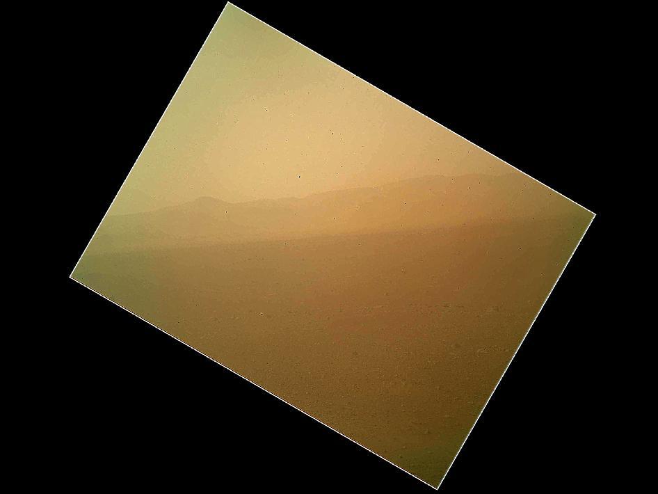 Первая цветная фотография Марса от ровера «Любопытство»