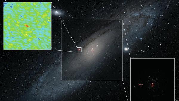 Обнаружен первый микроквазар за пределами Млечного Пути