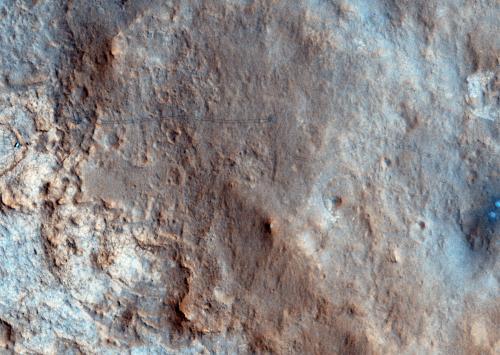 Получена первая цветная фотография марсохода Любопытство с орбиты