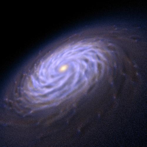Рукава спиральных галактик генерируются через облака