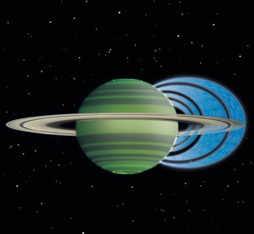 Кольца Сатурна постоянно проливают на планету ледяной дождь
