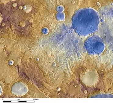 На Марсе были снегопады