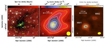 Астрономы наблюдают за рождением огромной звезды