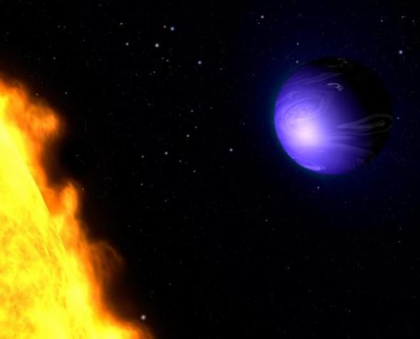 Голубая экзопланета