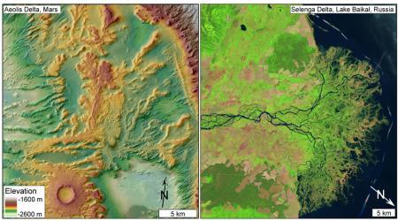 Каналы реки на Марсе