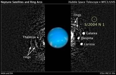 Новый спутник Нептуна обнаружен благодаря Хабблу