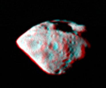 Астероид Штейнс в 3D