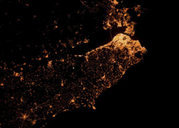 Ночной Лиссабон из космоса
