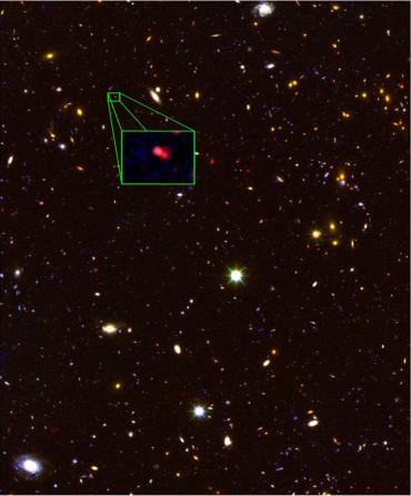 Ученые обнаружили самую далекую галактику