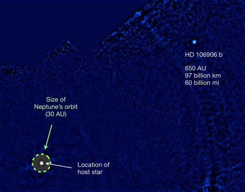 Обнаружена самая далекая от звезды экзопланета