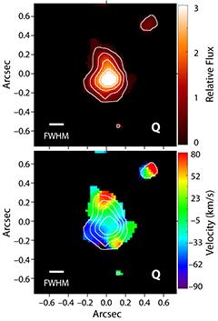 Квазар помог получить первое изображение галактики в ранней Вселенной