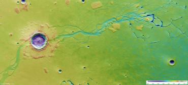 Марсианский кратер, в котором была жидкая вода