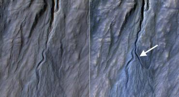 НАСА обнаружило новый водосток на Марсе