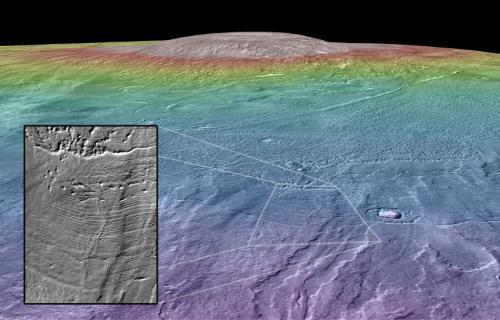 Вулкан Arsia Mons на Марсе