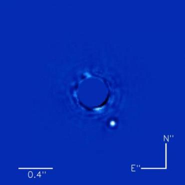 Получено лучшее изображение экзопланеты