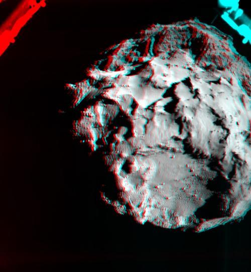 3D изображение демонстрирует поверхность кометы 67Р/Чурюмова-Герасименко.