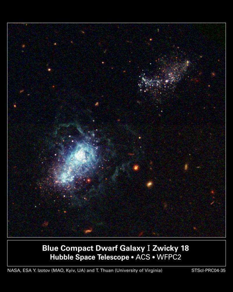 Карликовая галактика рассказала о прошлом Вселенной