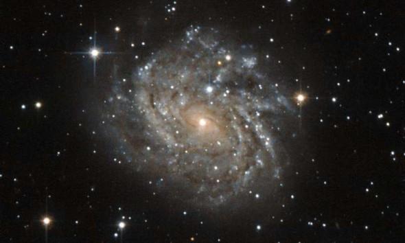 Хаббл сделал снимок спиральной галактики