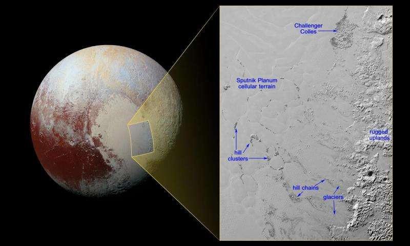 Ученые нашли айсберги на Плутоне